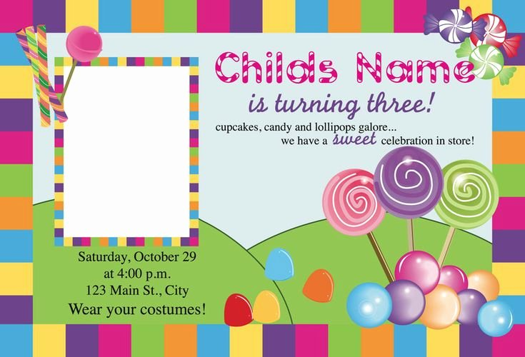 Candyland Birthday Party Invitations Fresh Best 25 Candy Land Invitations Ideas On Pinterest