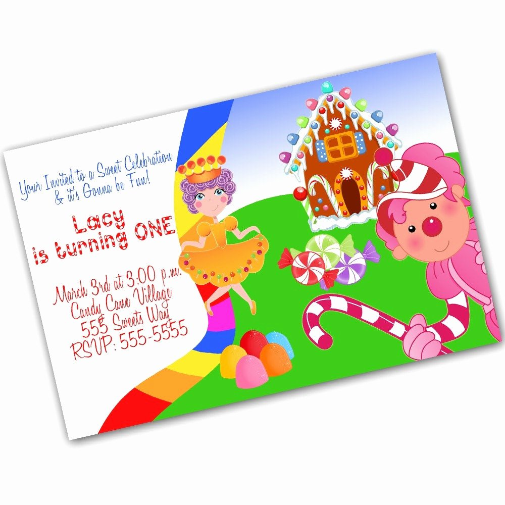 Candyland Birthday Party Invitations Inspirational Items Similar to Candyland Fun Digital Birthday Invitation