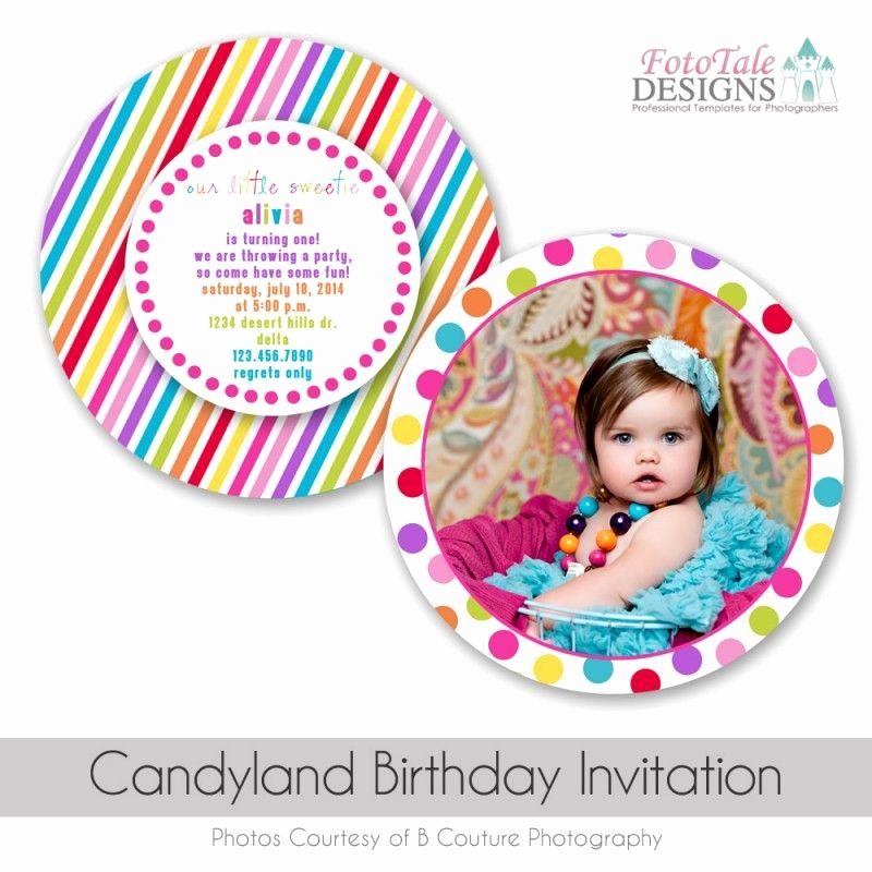 Candyland Birthday Party Invitations Lovely Candyland Birthday Invitation Custom Diecut Card