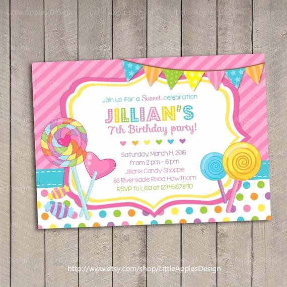 Candyland Birthday Party Invitations Luxury Lollipop Invitation Candyland Invitation Candyland