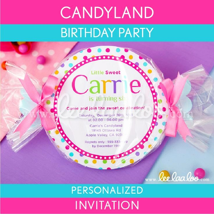 Candyland Birthday Party Invitations New 17 Best Images About Candyland Party On Pinterest