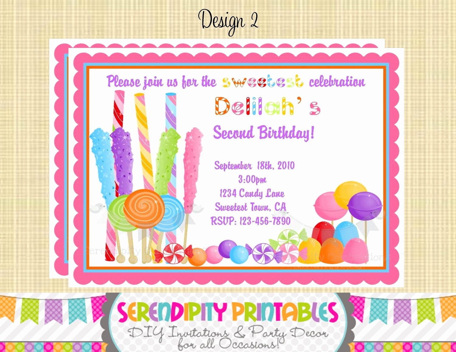Candyland Birthday Party Invitations New Candyland Invitation Use for Birthday Baby Shower Birth