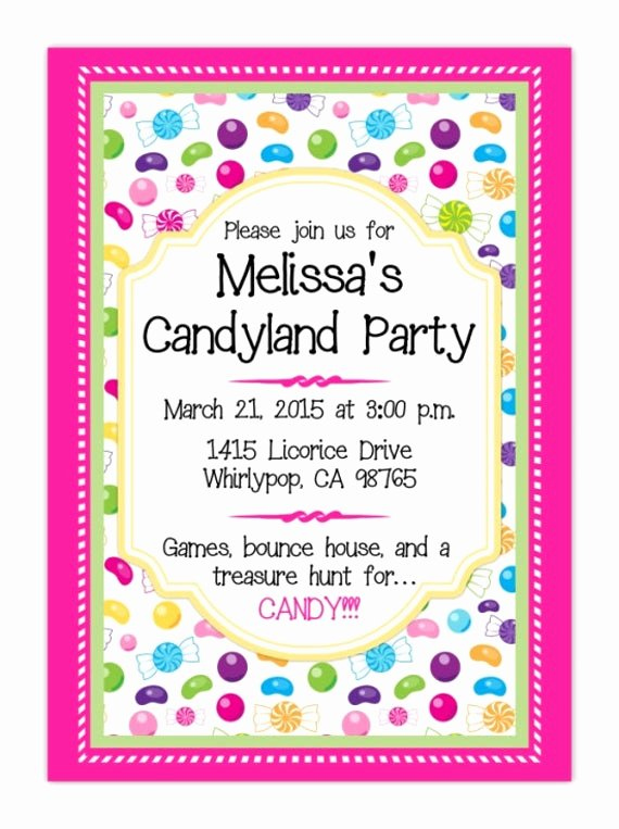 Candyland Birthday Party Invitations Unique Candy Land Party Invitation Candyland Invite Candy Land