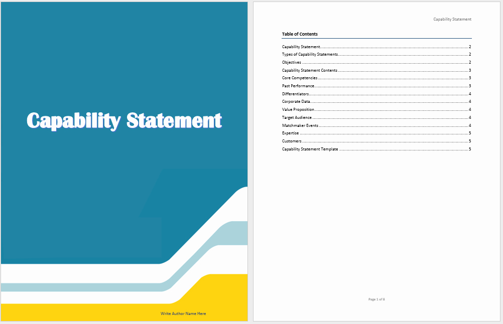 Capability Statement Template Word Luxury Capability Statement Template