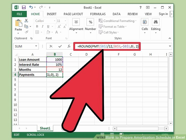 Car Amortization Schedule Excel New How to Prepare Amortization Schedule In Excel 10 Steps