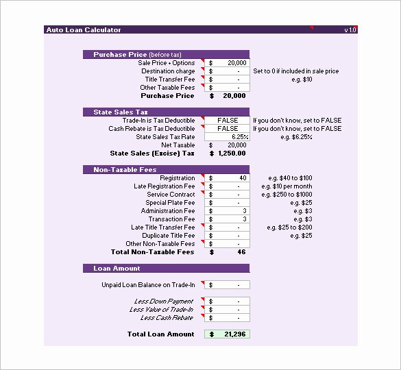 Car Amortization Schedule Excel New Loan Amortization Schedule Excel Template