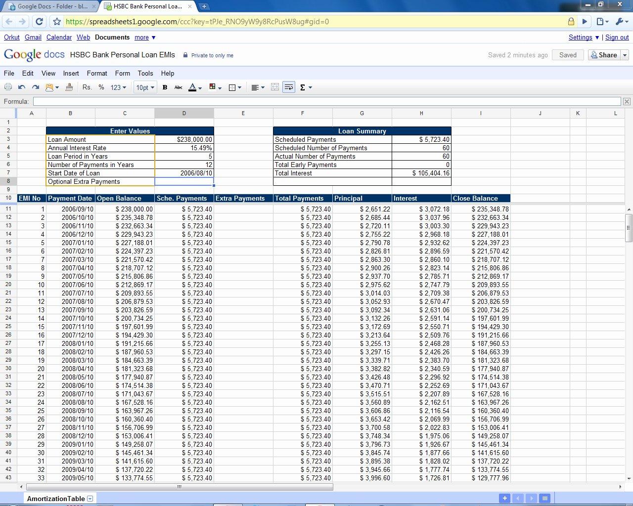 Car Amortization Schedule Excel Unique Mortgage Amortization Calculator Extra Payments