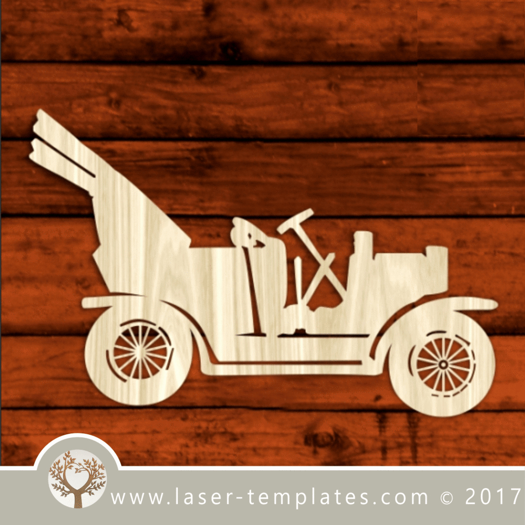 Car Cut Out Template Best Of Classic Car Laser Cut Template Pattern Design Free