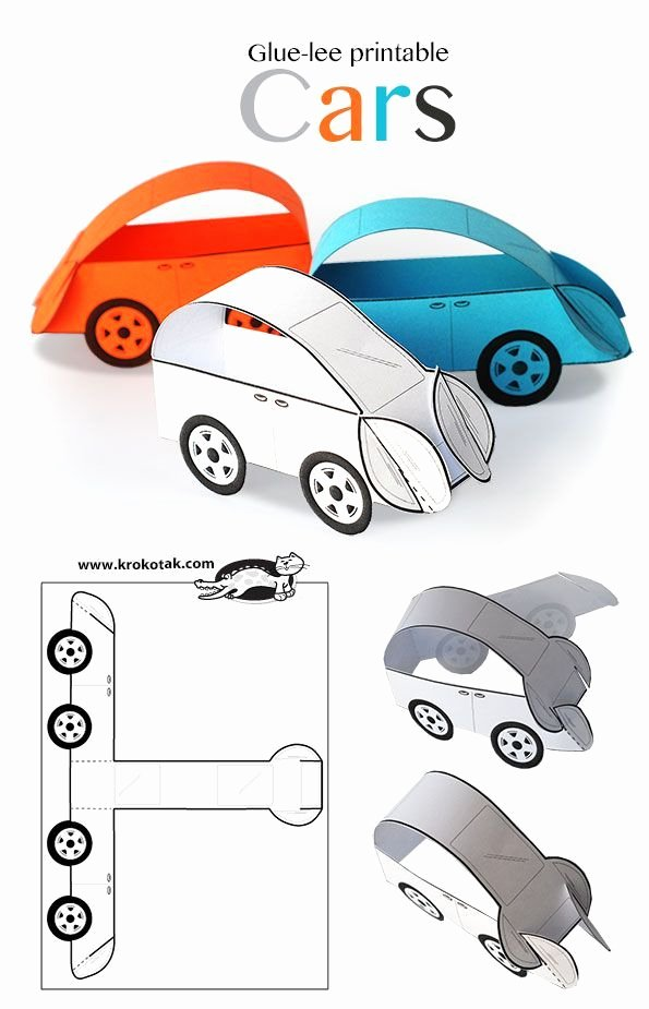 Car Cut Out Template Elegant Glue Lee Printable Cars Art Ideas