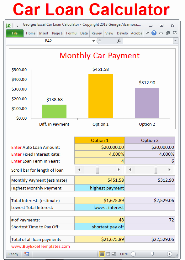 Car Loan formula Excel Elegant Car Loan Payment Calculator Estimate Monthly Payment