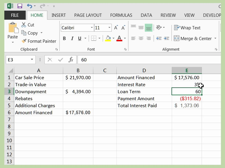 Car Loan formula Excel Fresh How to Calculate A Car Loan In Excel 10 Steps with