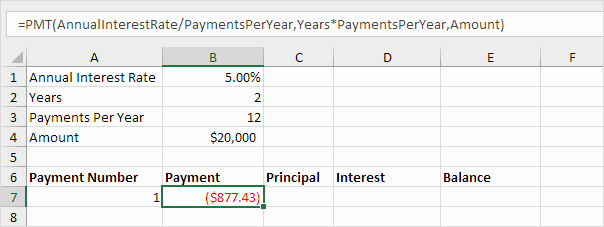 Car Loan formula Excel Fresh Loan Amortization Schedule In Excel Easy Excel Tutorial