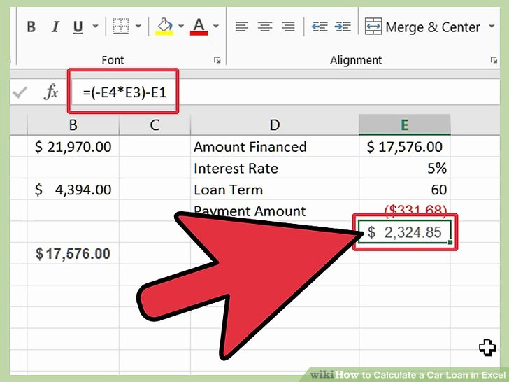 Car Loan formula Excel New How to Calculate A Car Loan In Excel 10 Steps with