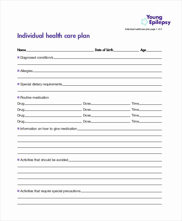 Care Plan Template Elegant 11 Healthcare Plan Templates Pdf Word