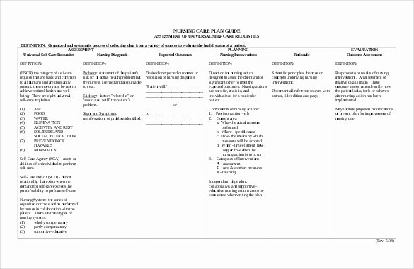 Care Plan Template Unique Nursing Care Plan Template 20 Free Word Excel Pdf