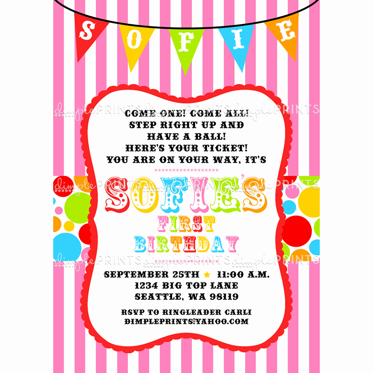 Carnival Invitation Templates Free Awesome Free Printable Carnival Birthday Party Invitations