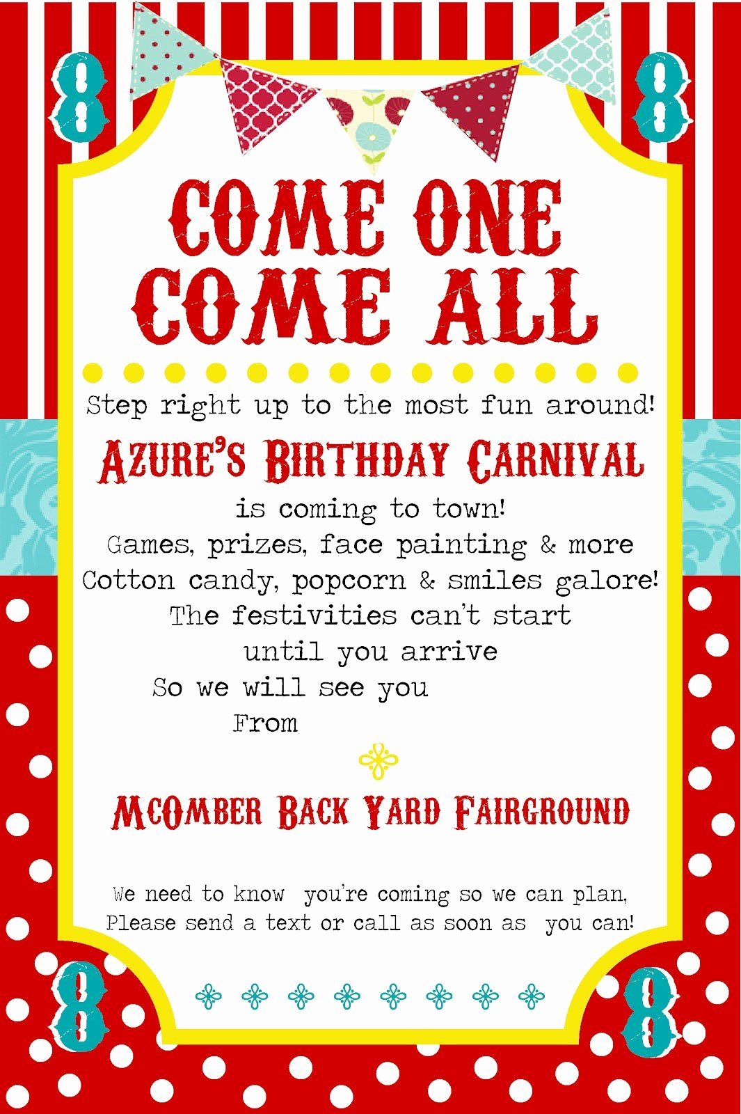 Carnival Invitation Templates Free Awesome Free Printable Carnival Party Invitation Template