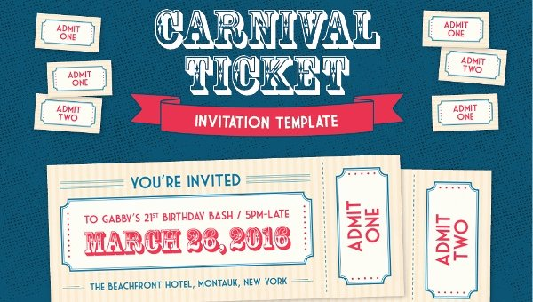 Carnival Invitation Templates Free Beautiful 37 Carnival Birthday Invitation Templates Free Sample