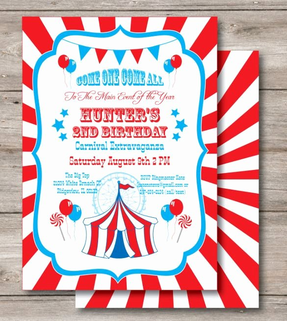 Carnival Invitation Templates Free Best Of 23 Carnival Birthday Invitations – Free Psd Vector Eps