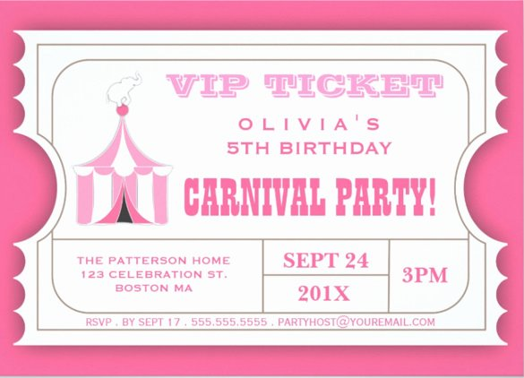 Carnival Invitation Templates Free Best Of 27 Carnival Birthday Invitations Free Psd Vector Eps