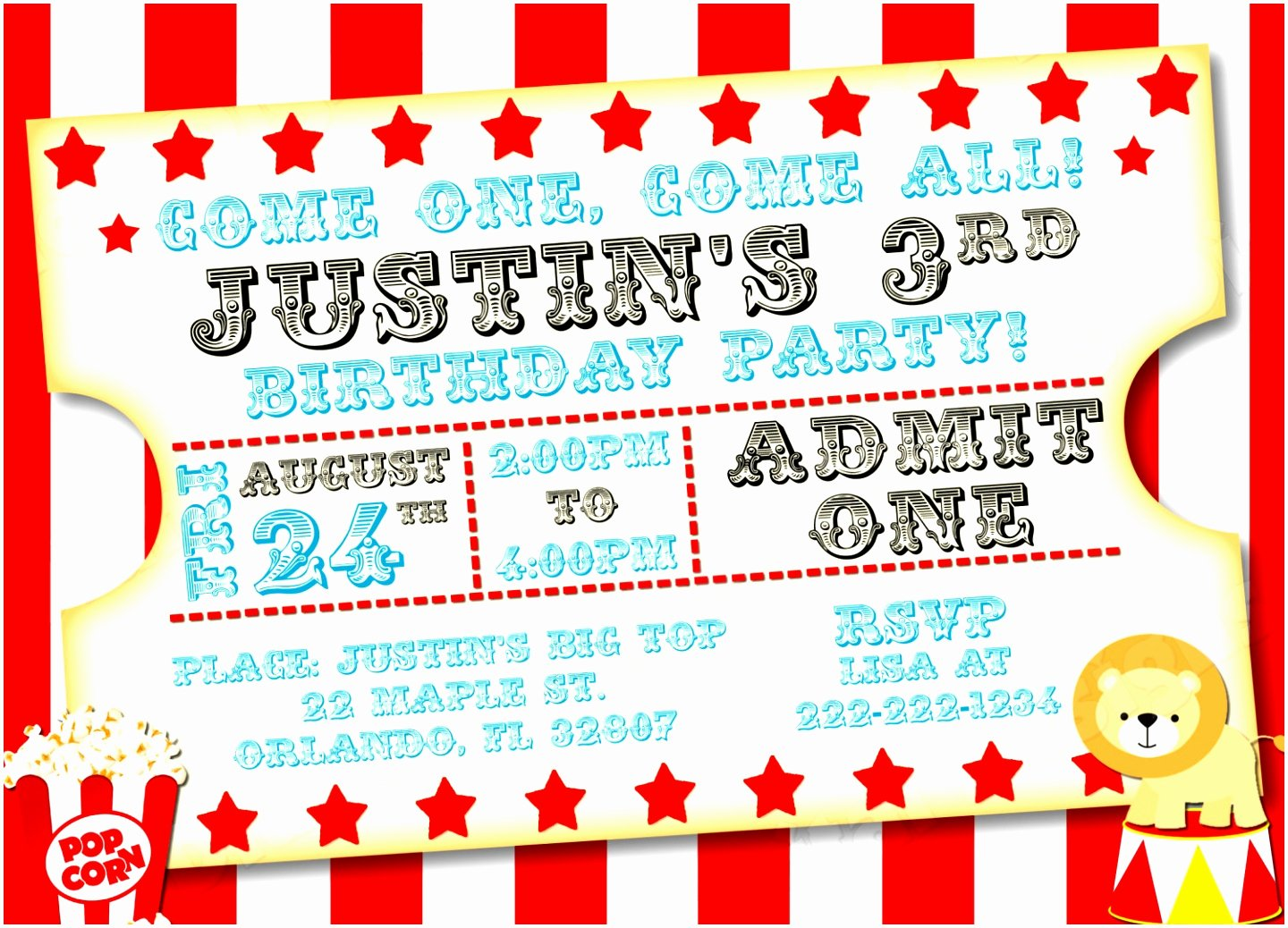 Carnival Invitation Templates Free Inspirational 7 Carnival Party Invitation Templates Opttt