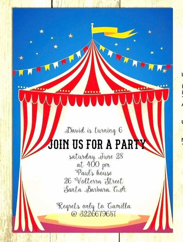 Carnival Invitation Templates Free Lovely Carnival theme Invitation – orgul Gbt