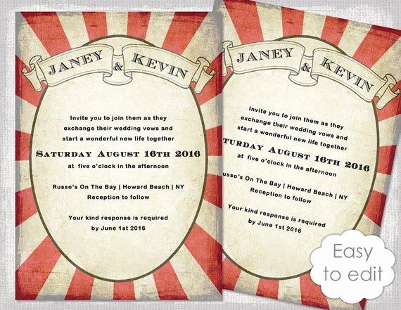 Carnival Invitation Templates Free New Carnival Invitation Template Printable Wedding Invitations