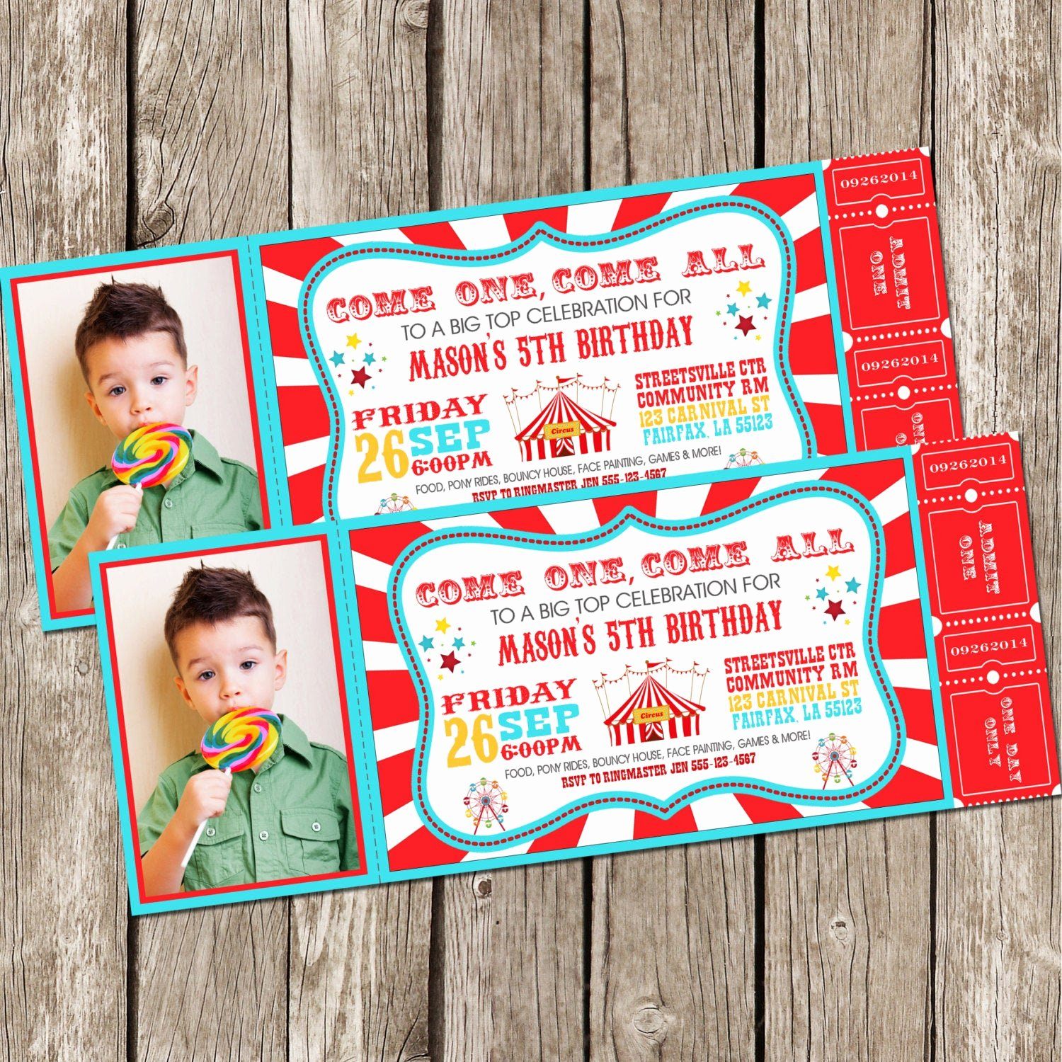 Carnival theme Party Invitations Fresh Vintage Circus Carnival Invitation Ticket Invitation