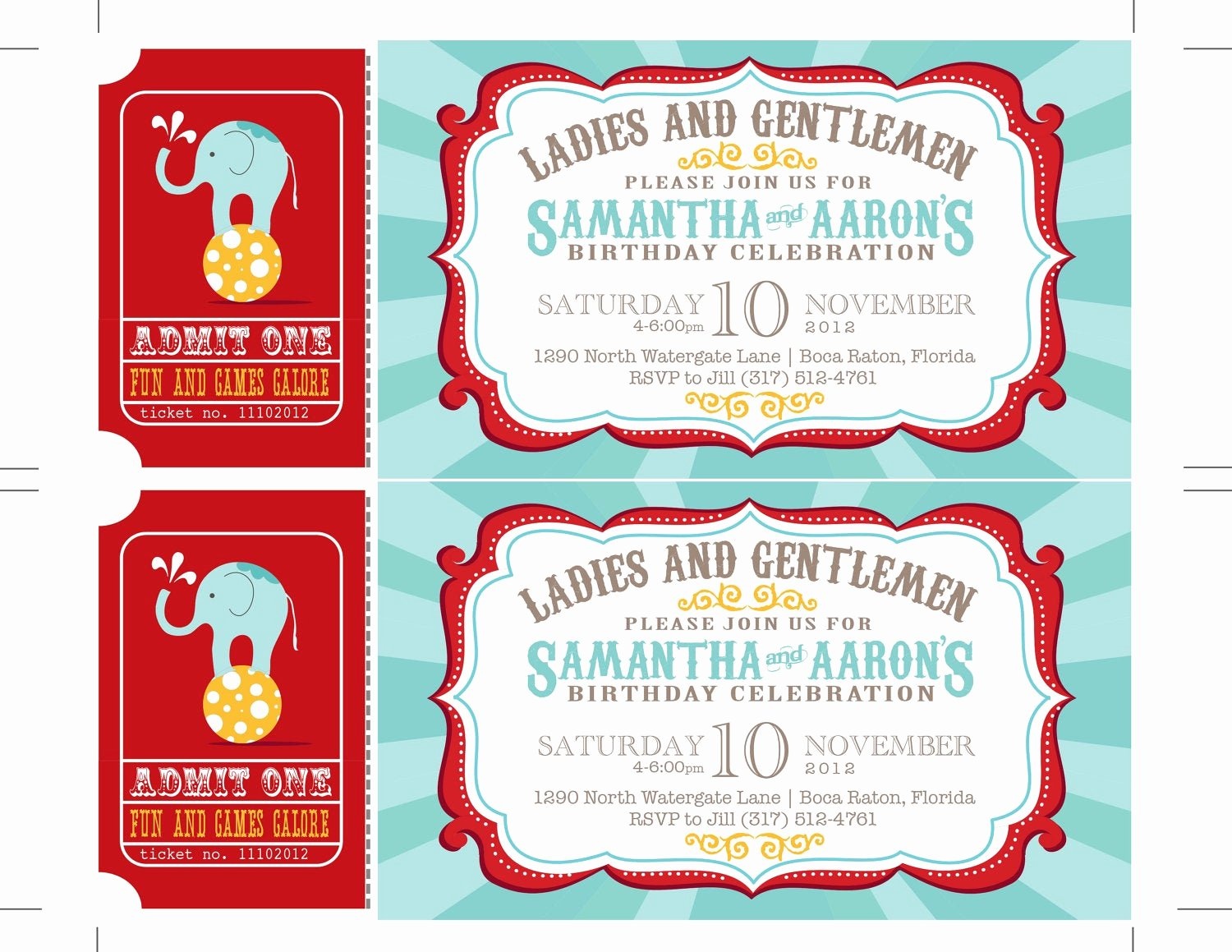 Carnival theme Party Invitations Inspirational Carnival Birthday Party Invitations Circus Baby Shower