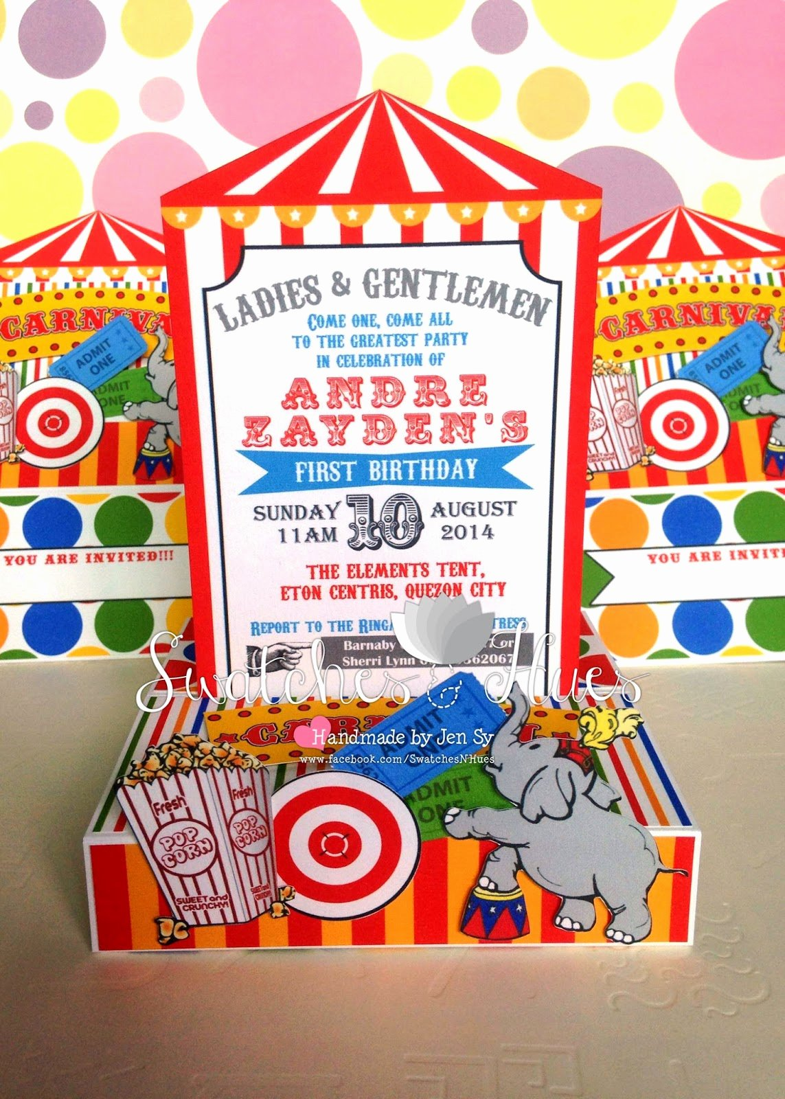 Carnival theme Party Invitations Inspirational Swatches & Hues Handmade with Tlc Circus and Carnival