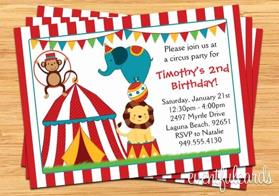 Carnival theme Party Invitations Lovely Circus Birthday Party Invitation for Kids