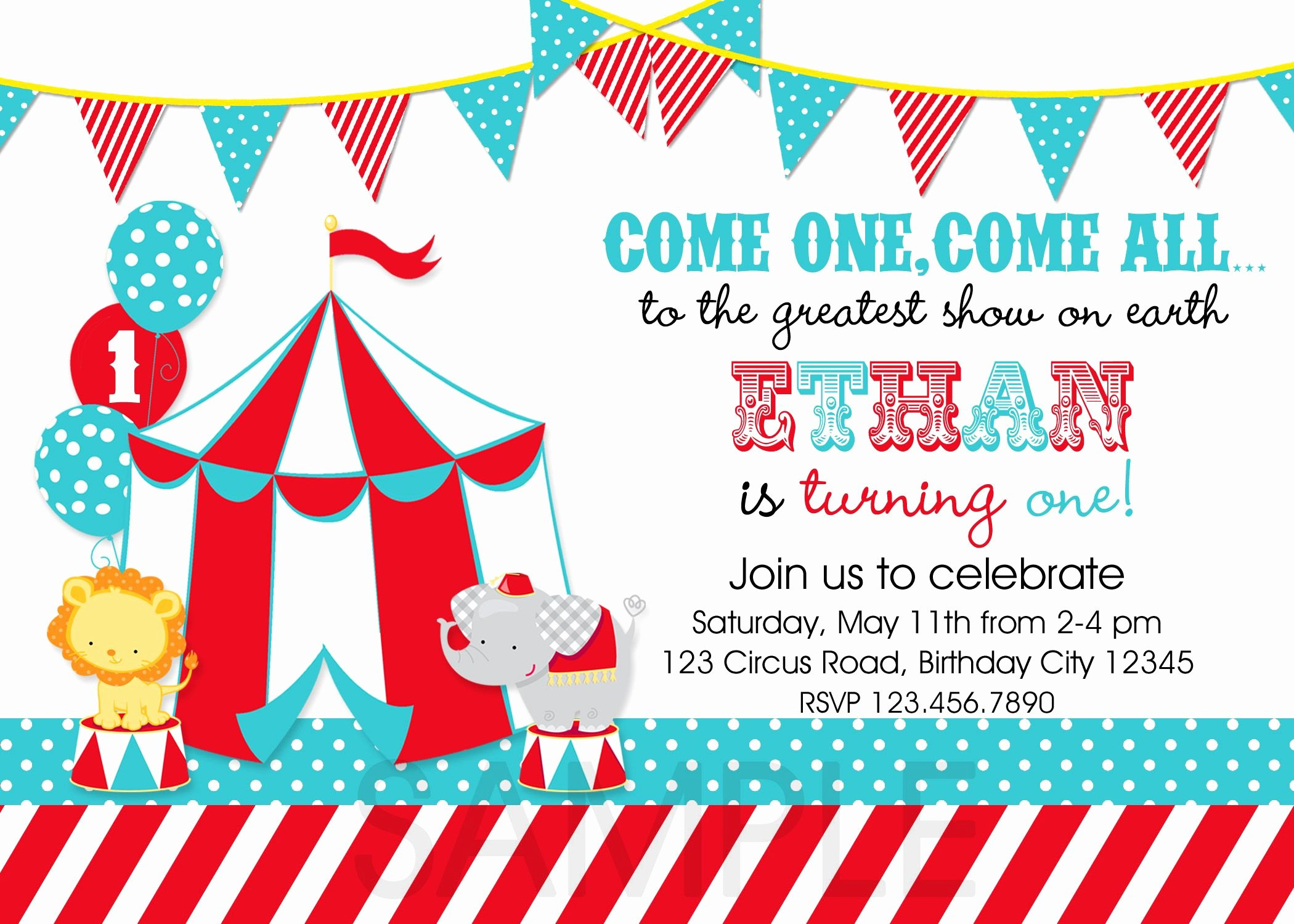 Carnival theme Party Invitations Lovely Circus Party Invitations Template 3zcfy9xw