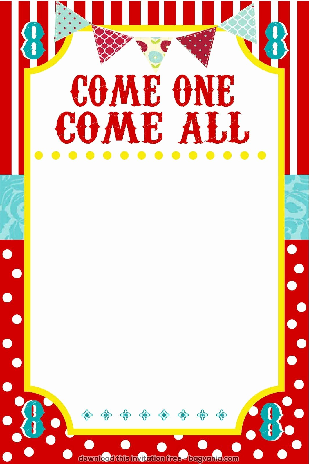 Carnival theme Party Invitations Lovely Free Carnival Birthday Invitations – Free Printable