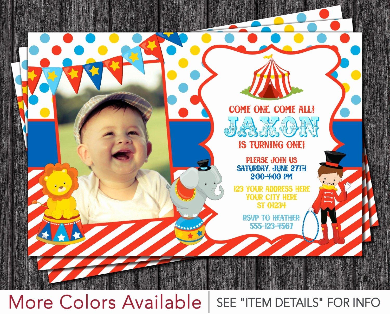 Carnival theme Party Invitations Unique Circus Birthday Invitation Carnival theme