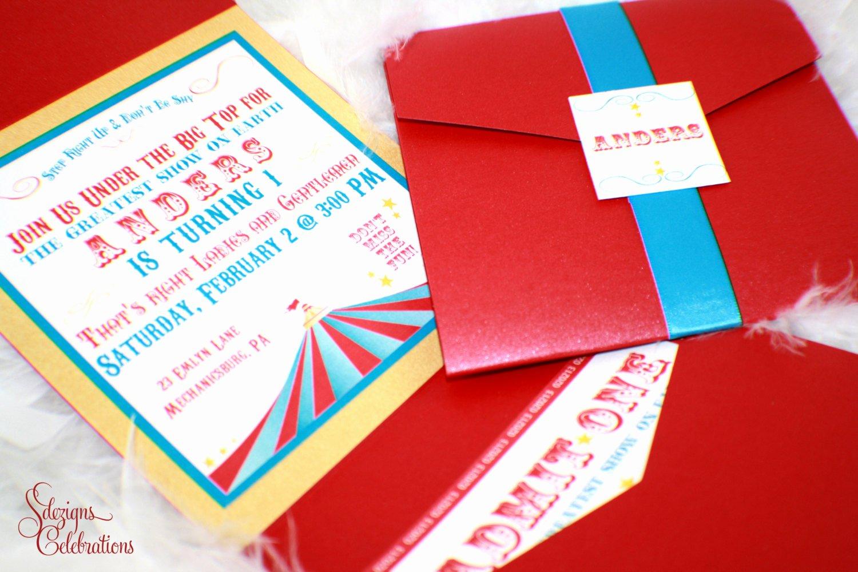 Carnival theme Party Invitations Unique Circus or Carnival theme Birthday Invitations