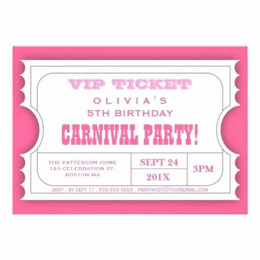 Carnival Ticket Birthday Invitations Unique 1000 Images About Carnival Birthday Party Invitations On