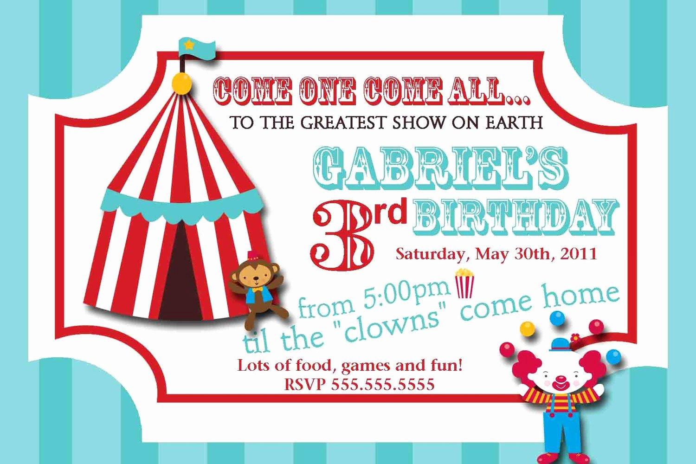 Carnival Ticket Birthday Invitations Unique Carnival Circus Ticket Birthday Invitation