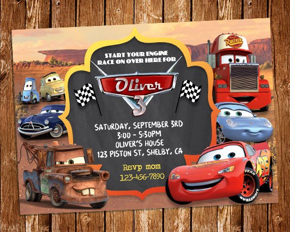 Cars Invitation Template Free Awesome Disney Cars Invitation Disney Cars Birthday Party Invite