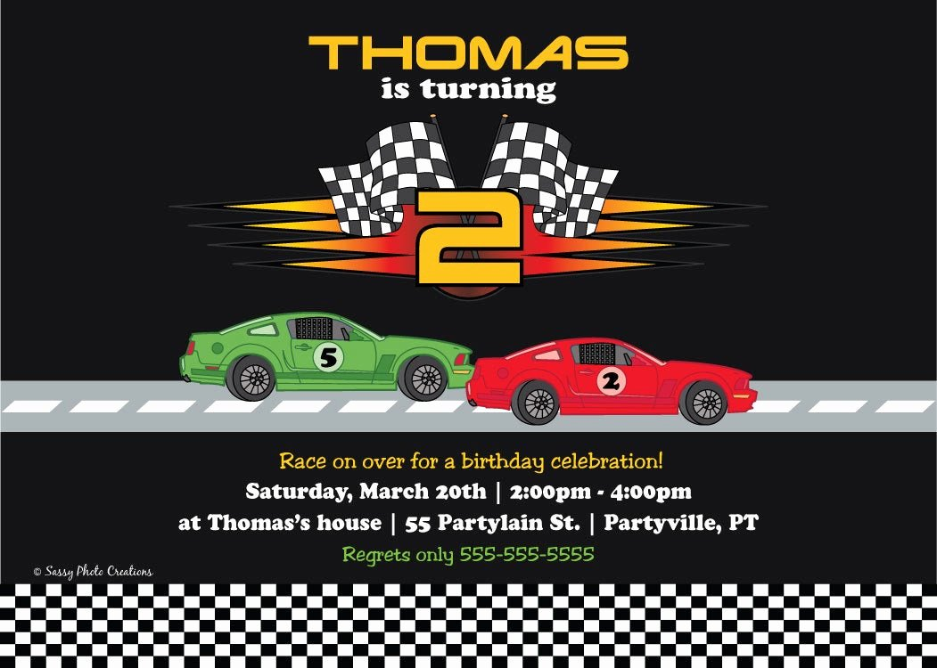 Cars Invitation Template Free Elegant Race Car Birthday Invitation Printable Birthday Invitations