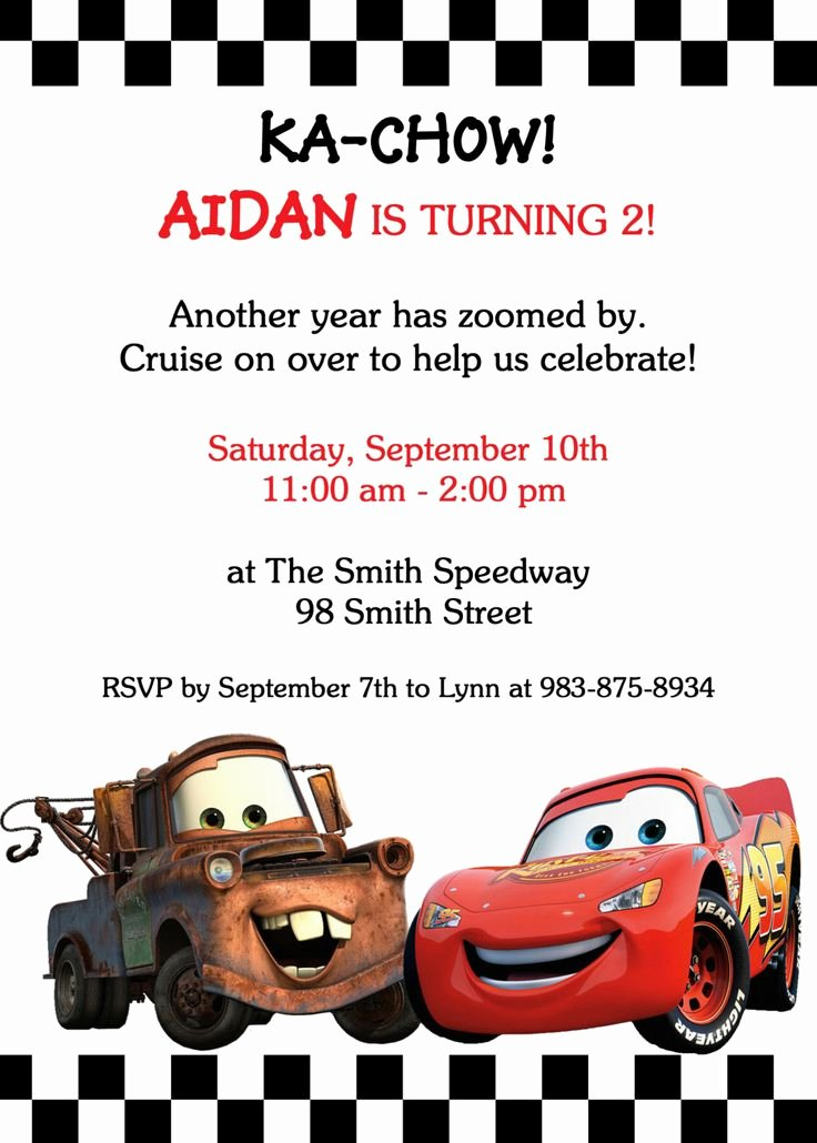 Cars Invitation Template Free Fresh 17 Best Ideas About Cars Birthday Invitations On