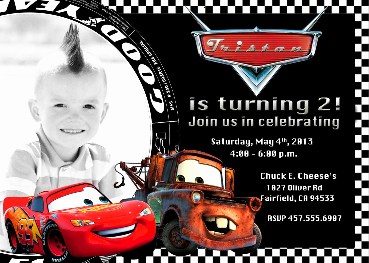 Cars Invitation Template Free Fresh Cars Birthday Invitations Free