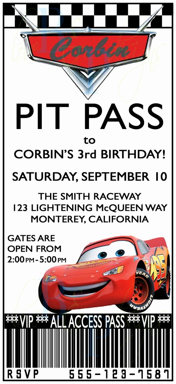 Cars Invitation Template Free Inspirational Etsy Your Place to and Sell All Things Handmade
