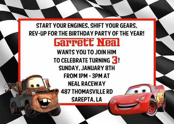 Cars Invitation Template Free Lovely 17 Best Images About Disney Cars Party On Pinterest