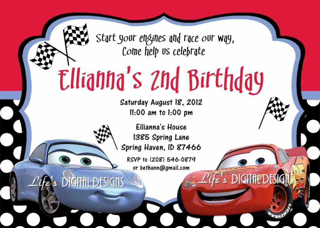 Cars Invitation Template Free Luxury Cars Birthday Invitations Ideas – Bagvania Free Printable