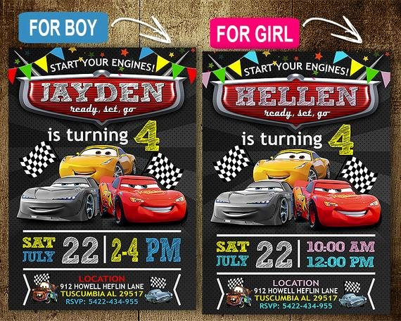 Cars Invitation Template Free New Disney Cars Birthday Invitation Invitations Disney Cars