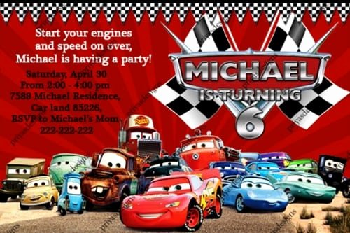 Cars Invitation Template Free Unique Cars Sample Invitation