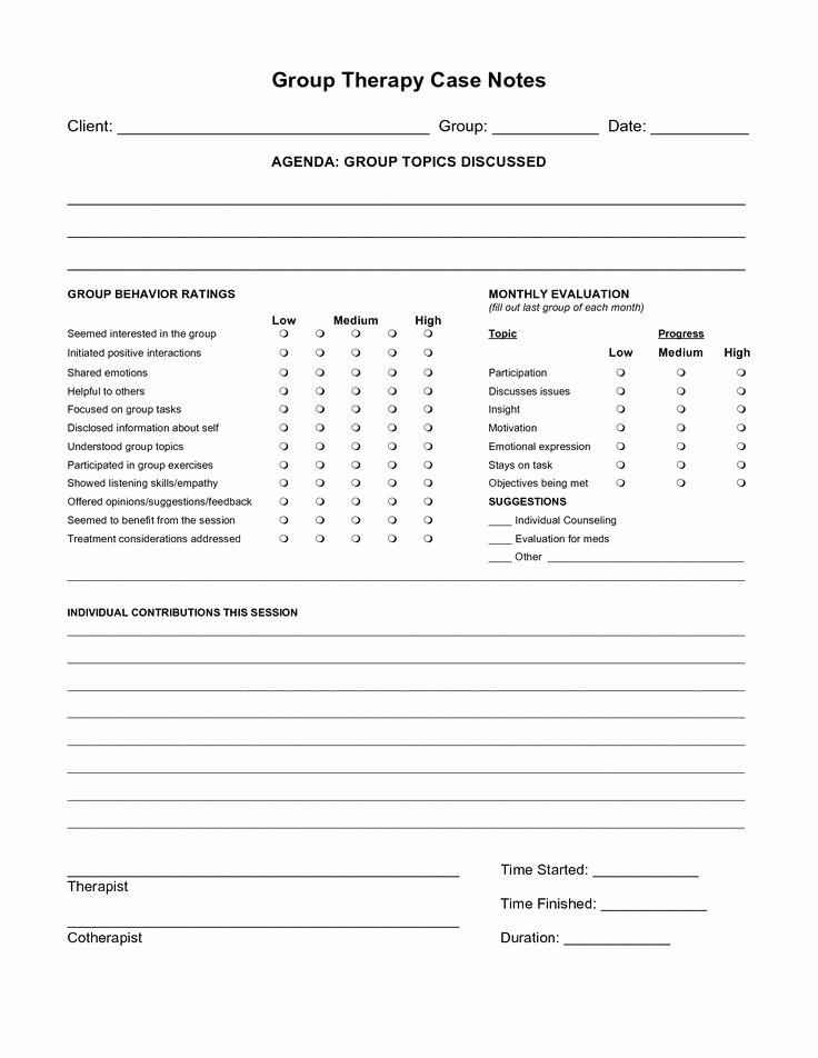Case Note Example social Work Lovely Free Case Note Templates Group therapy Case Notes