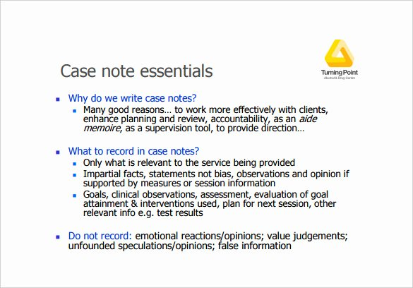 Case Note Example social Work Luxury Case Notes Template – 7 Free Word Pdf Documents Download