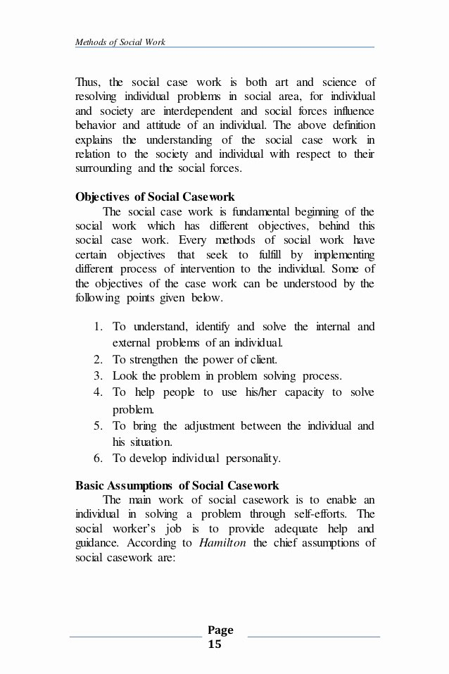 Case Note Example social Work Unique Plete Note Of Casework