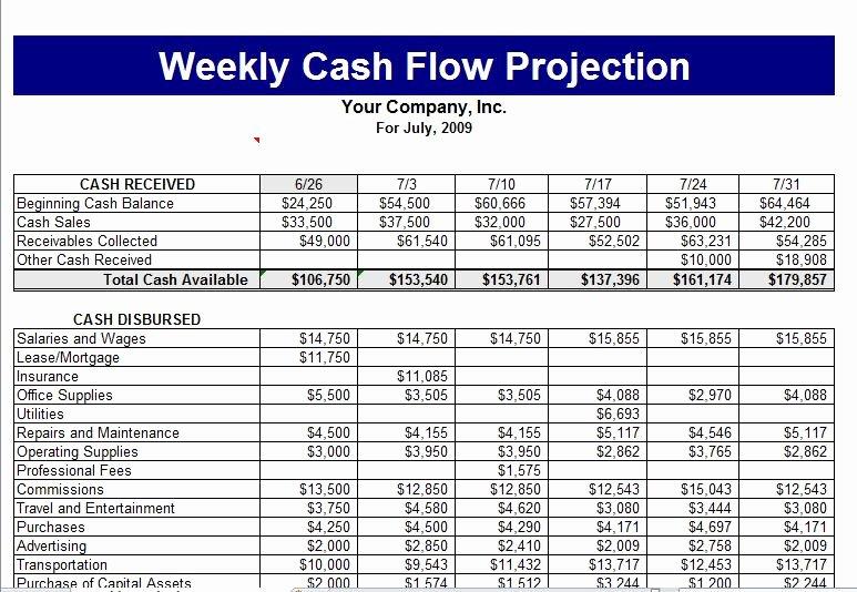 Cash Budget Template Excel Beautiful Cash Flow Template